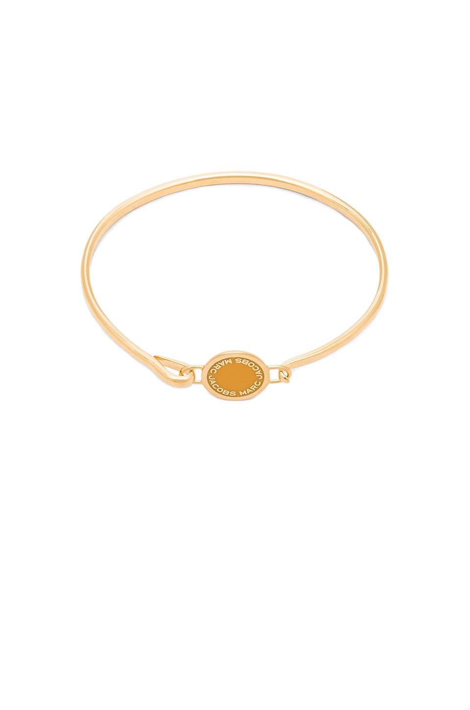 Marc Jacobs Enamel Logo Disc Hinge Bracelet in Yellow