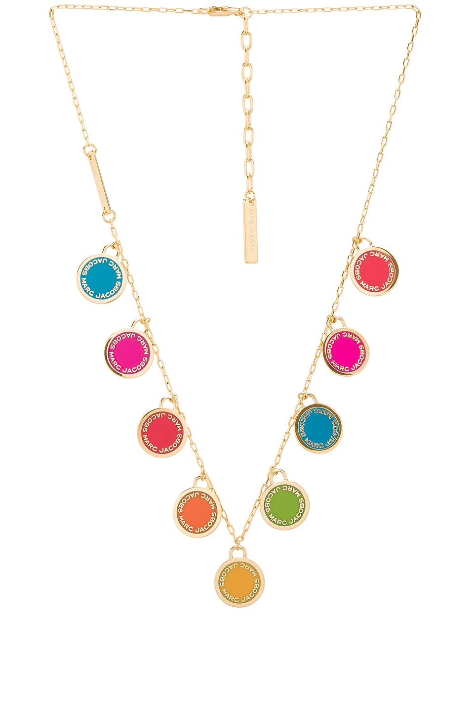 Marc Jacobs Logo Disc Statement Necklace in Rainbow