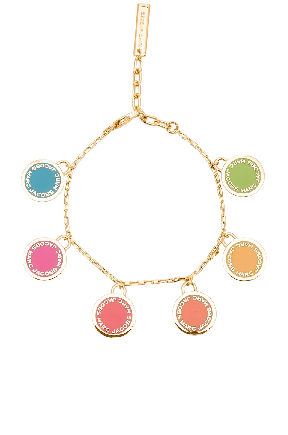 Marc Jacobs Logo Disc Statement Bracelet in Rainbow