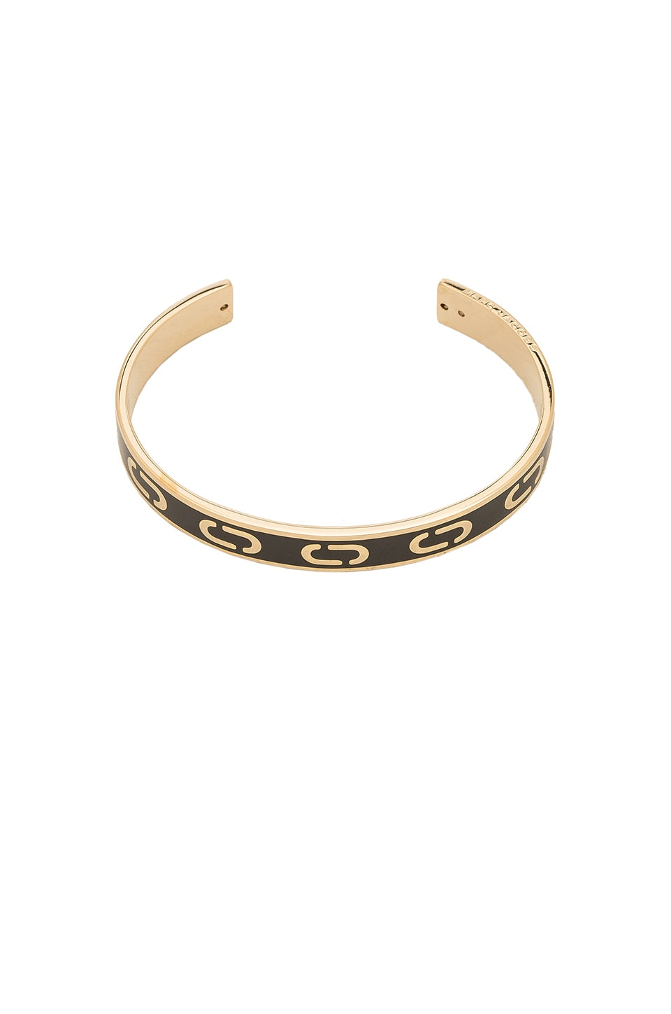 Marc Jacobs Icon Enamel Cuff in Black