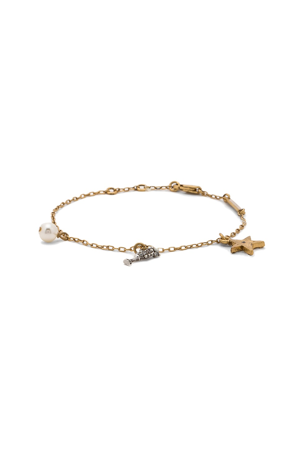 Champagne Flute Chain Bracelet by Marc Jacobs