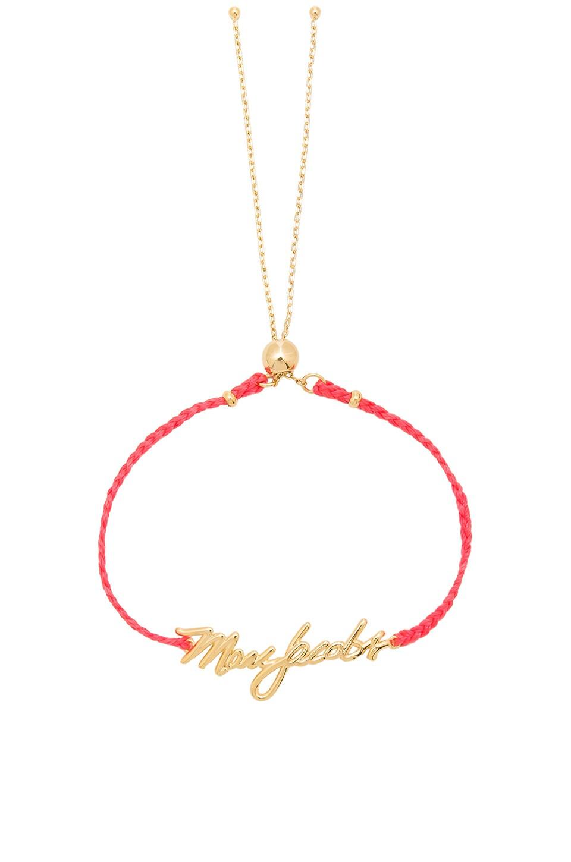 Marc Jacobs Signature Logo Bracelet Set in Pink Multi