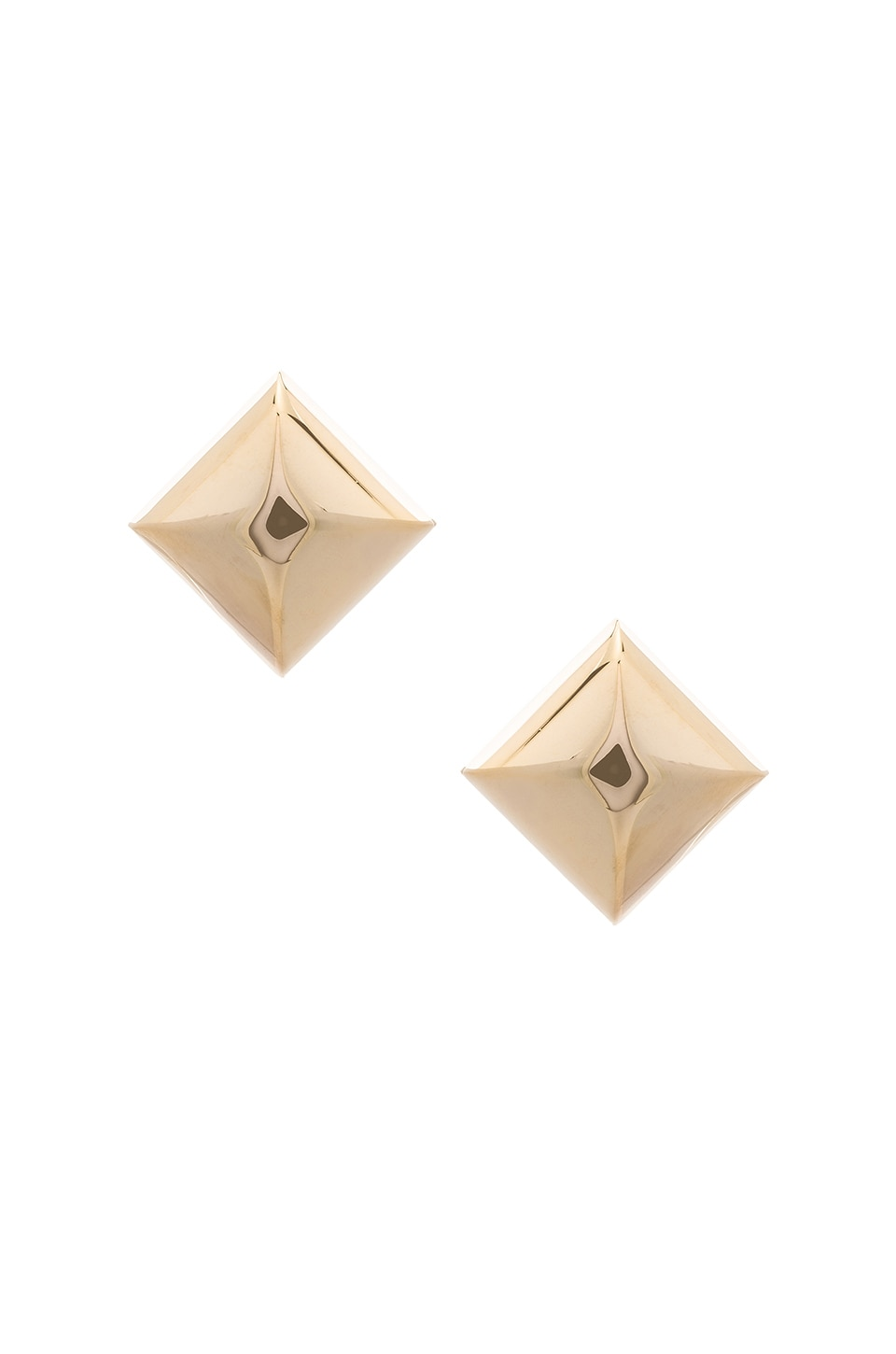 Marc Jacobs Large Metal Stud Clip Earrings in Gold