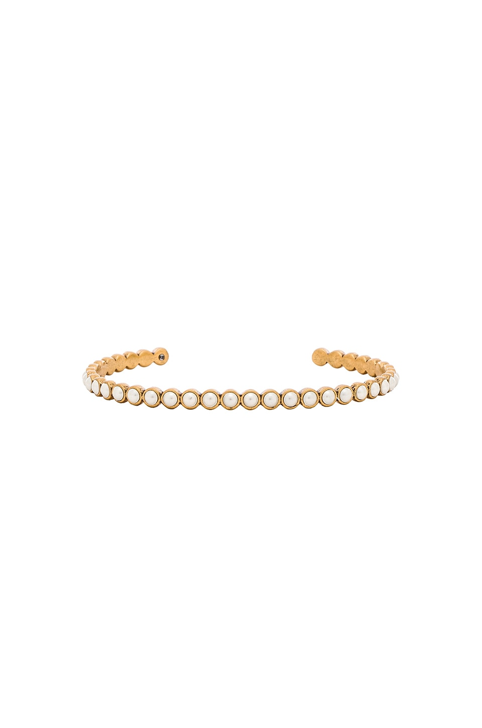 Marc Jacobs Pearl Delicate Dot Bracelet in Cream & Antique Gold