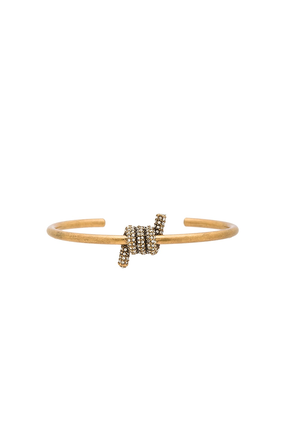 Marc Jacobs Pave Twisted Cuff in Crystal & Antique Gold