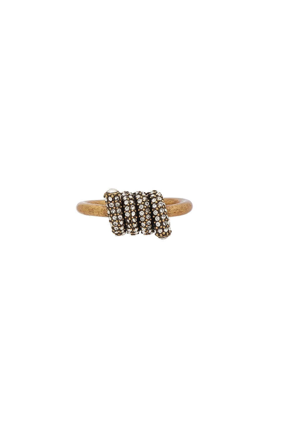 Pave Twisted Ring by Marc Jacobs