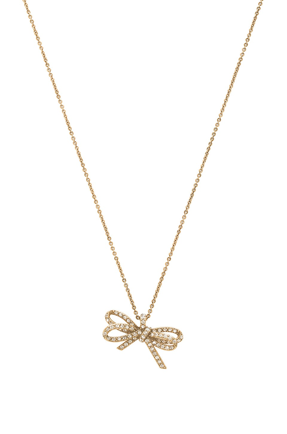 Pave Twisted Bow Pendant by Marc Jacobs