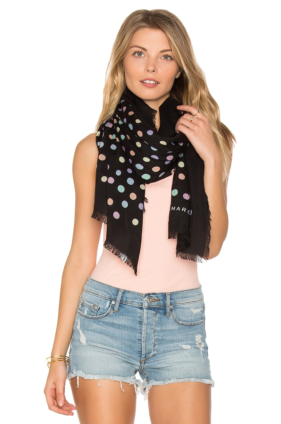 Pastel Dot Large Scarf by Marc Jacobs