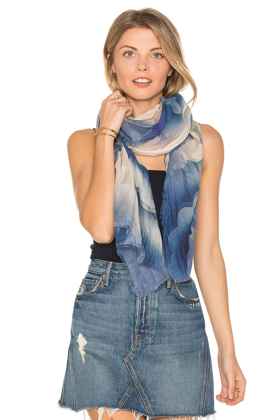 Marc Jacobs Clouds Stole Scarf in Blue Multi