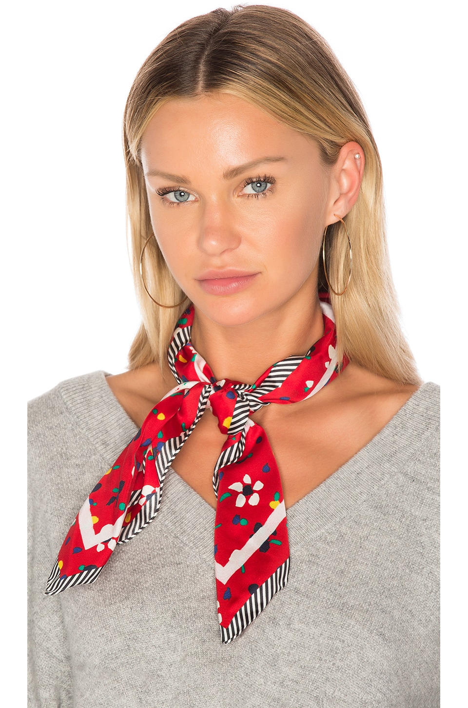 Marc Jacobs Painted Flower and Hearts Square in Red Multi