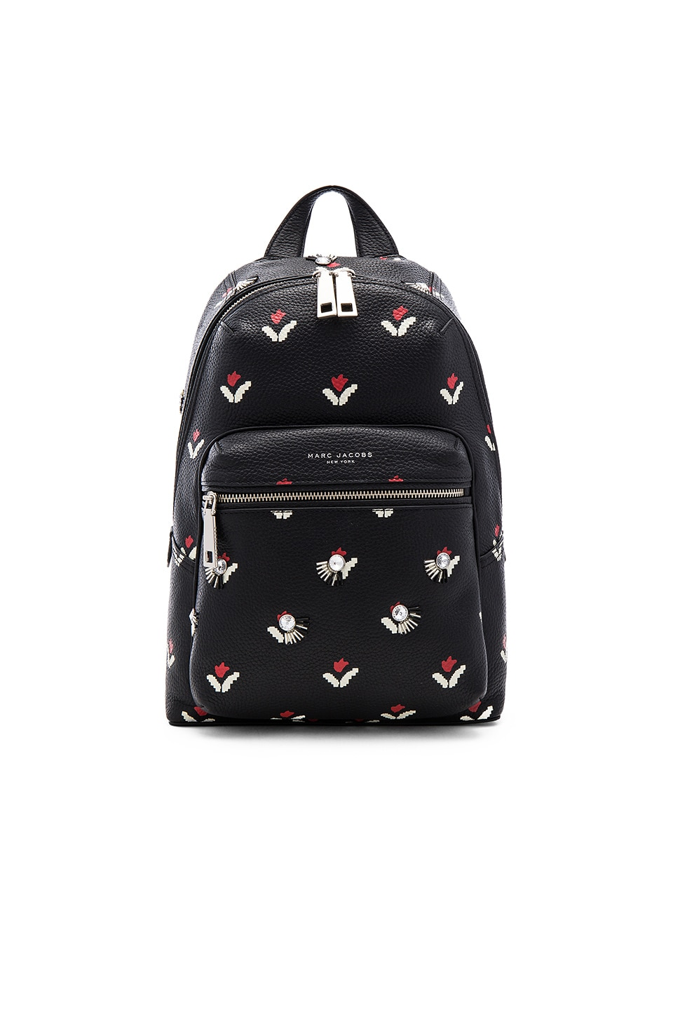 Embellished Tulip Leather Backpack by Marc Jacobs