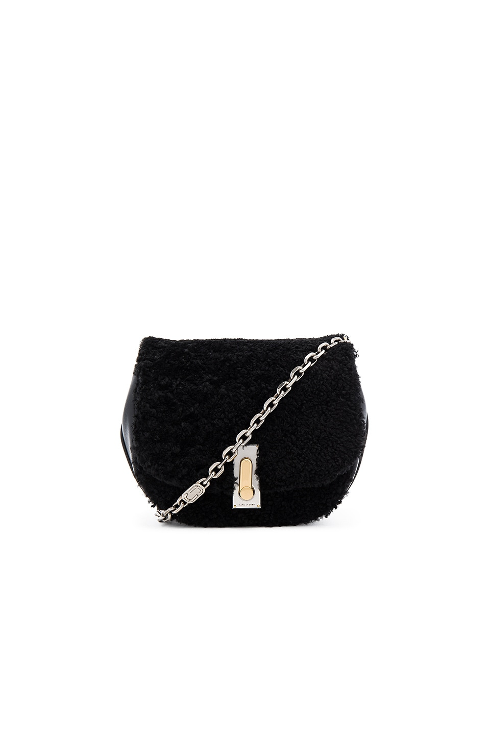 Marc Jacobs West End Shearling Jane Bag in Black