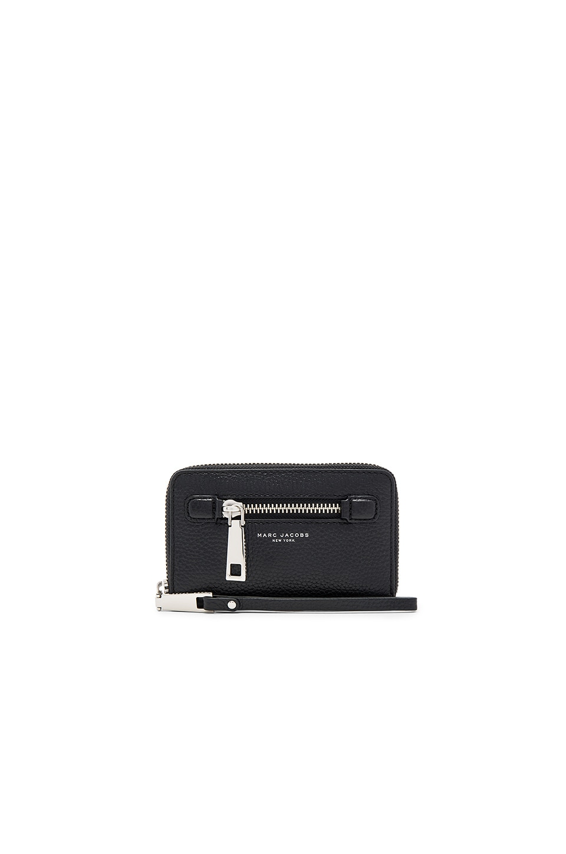Marc Jacobs Gotham Zip Phone Wristlet in Black