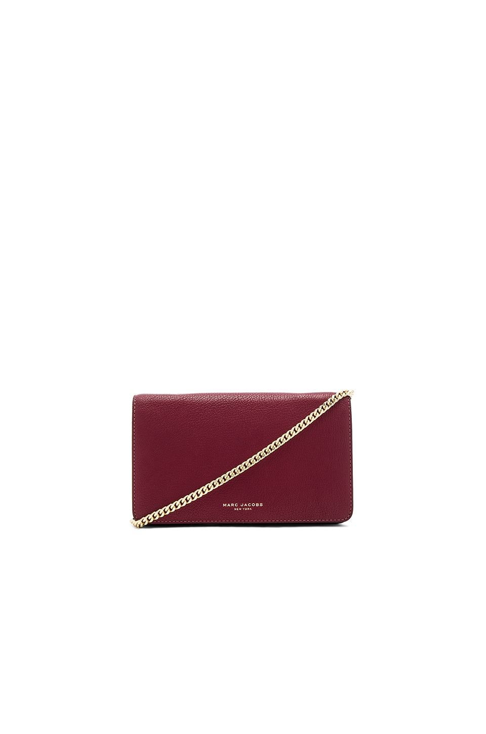 Marc Jacobs Perry Wallet on Chain in Dark Cherry