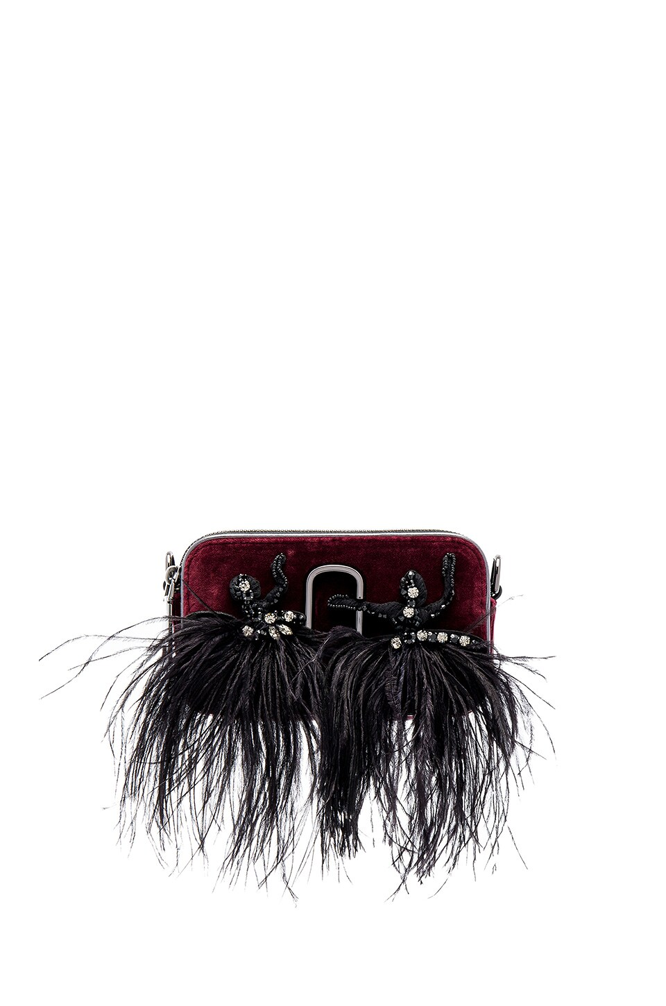 Marc Jacobs Snapshot Velvet Small Camera Bag in Bordeaux