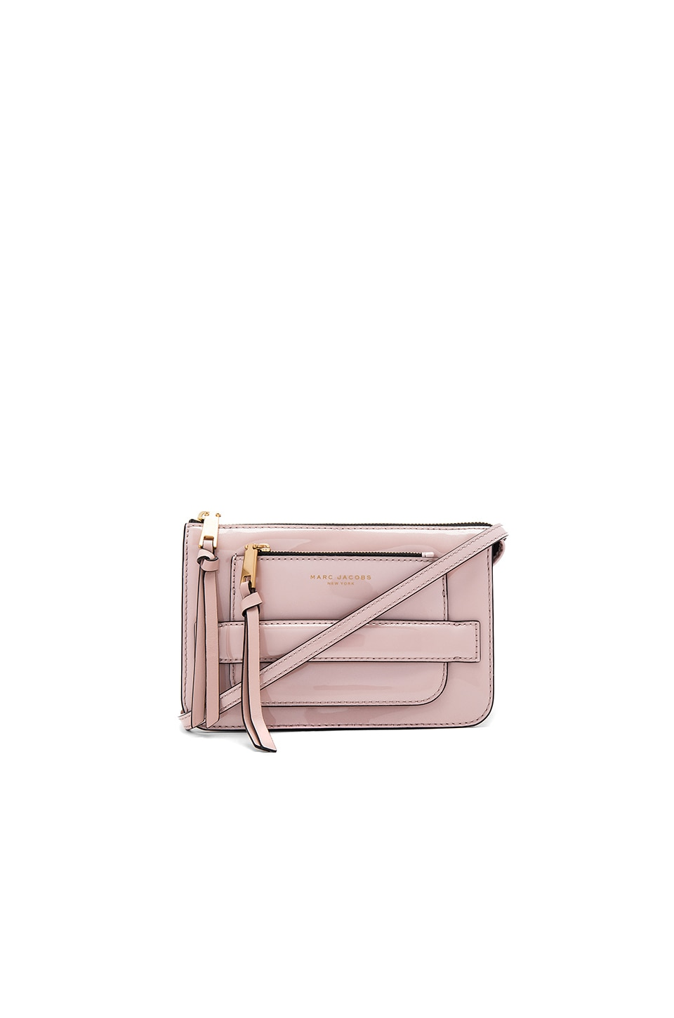 Marc Jacobs Madison Patent Crossbody Bag in Rose Smoke