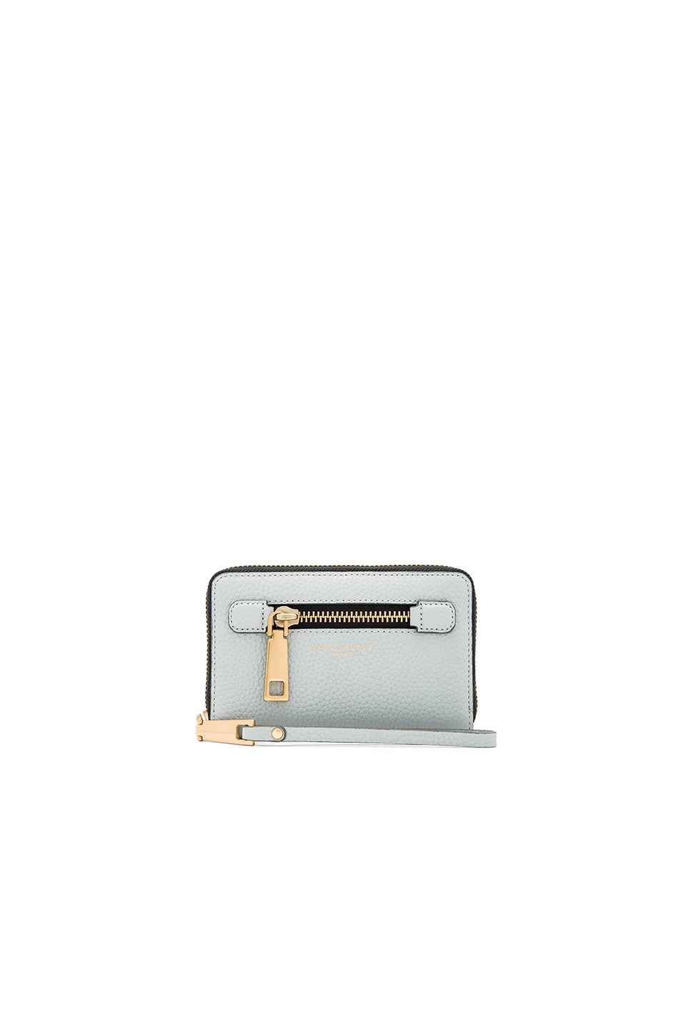 Marc Jacobs Gotham Zip Phone Wristlet in Frost