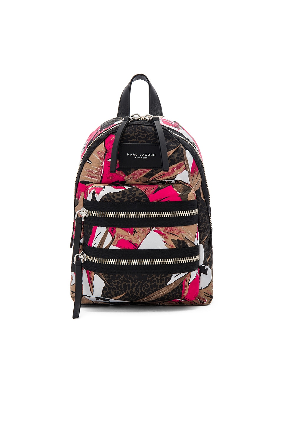 Marc Jacobs Palm Printed Biker Mini Backpack in Pink Multi
