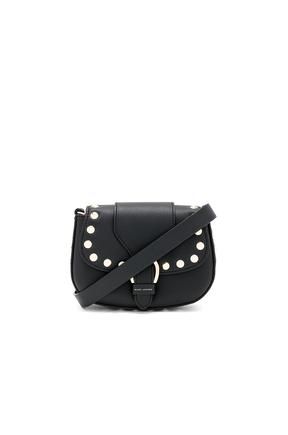 Marc Jacobs Small Studded Navigator Bag in Black