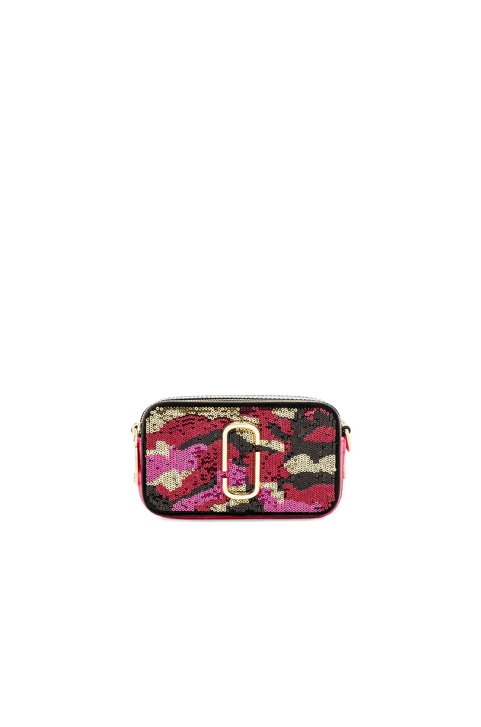 Camo Sequin Snapshot Camera Bag