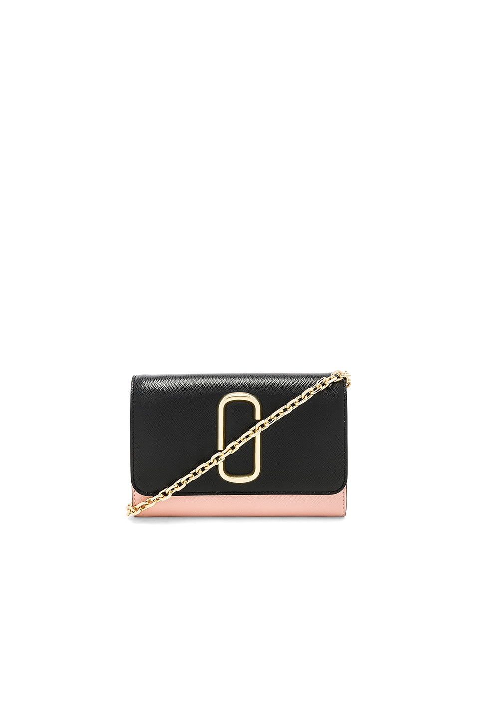 Marc Jacobs Wallet On Chain Bag in Black & Rose