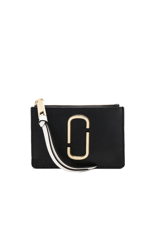 Marc Jacobs Top Zip Multi Wallet in Black Multi