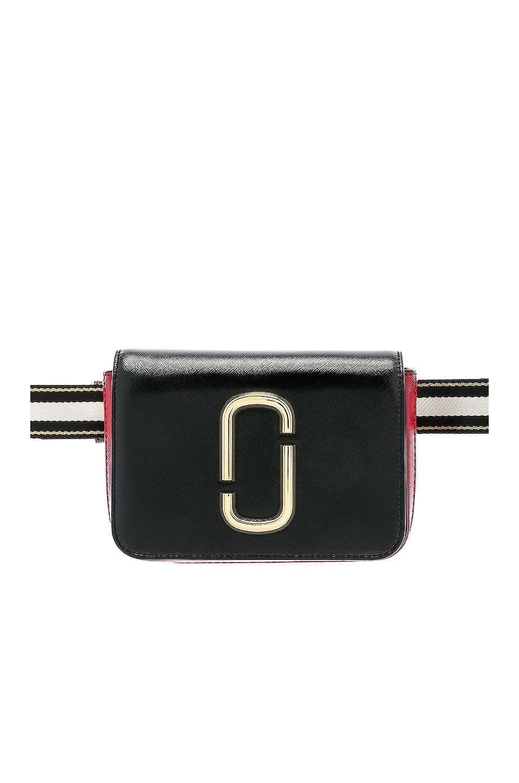 Marc Jacobs Hip Shot Belt Bag in Black & Red