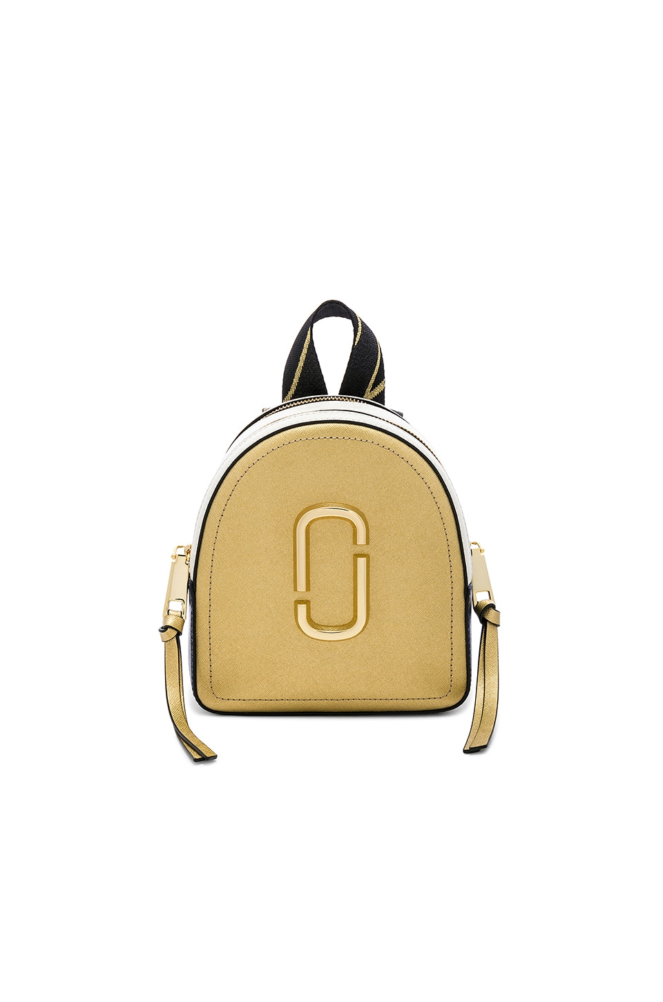 Marc Jacobs Mini Pack Shot Backpack in Gold Multi