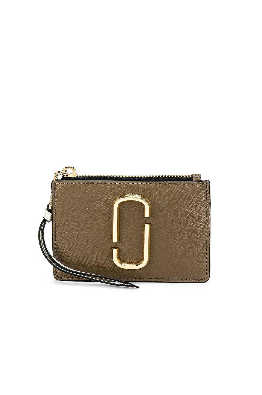 Marc Jacobs Top Zip Multi Wallet in French Grey Multi