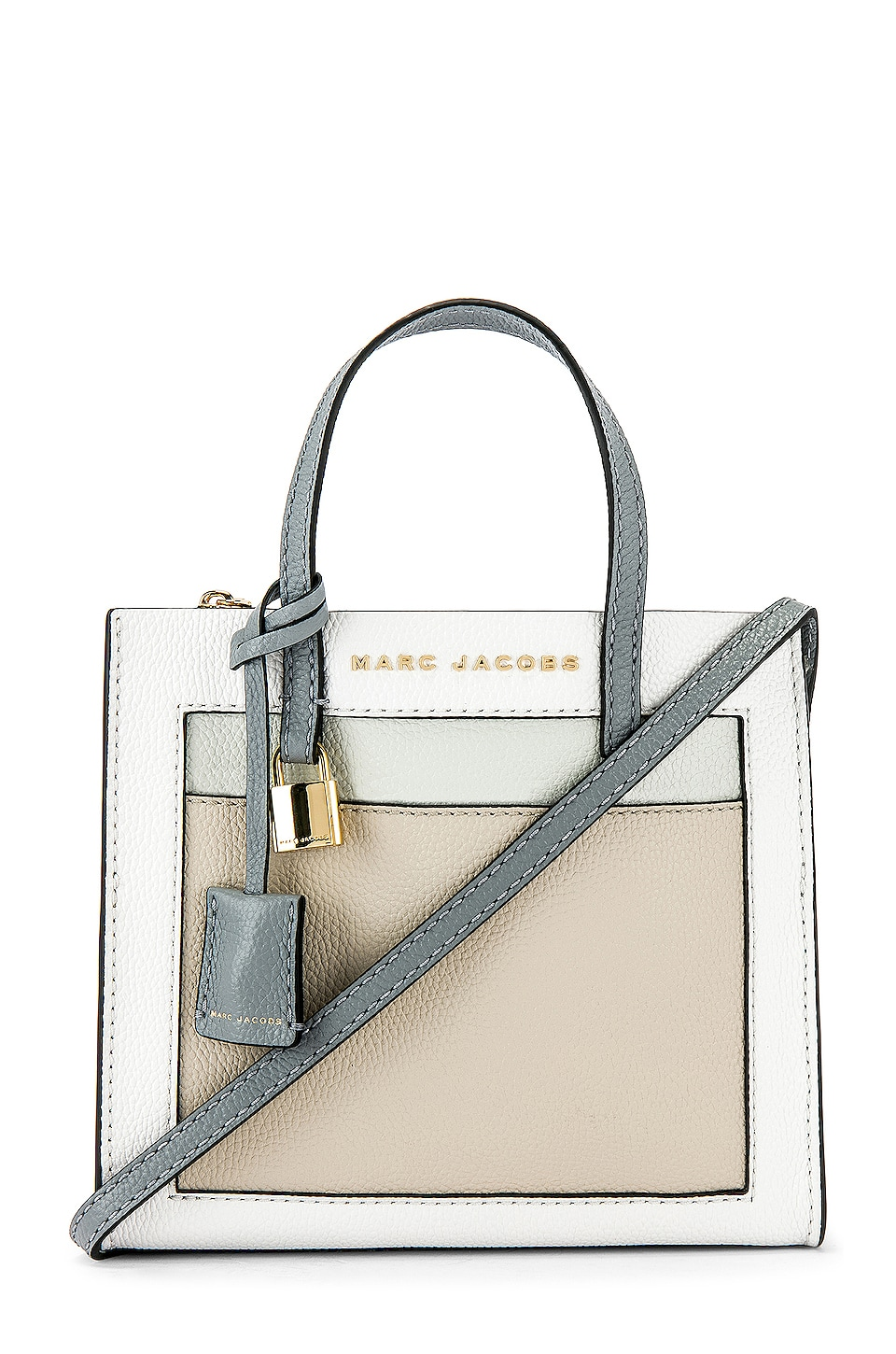 Marc Jacobs Mini Grind Tote in Moon White Multi