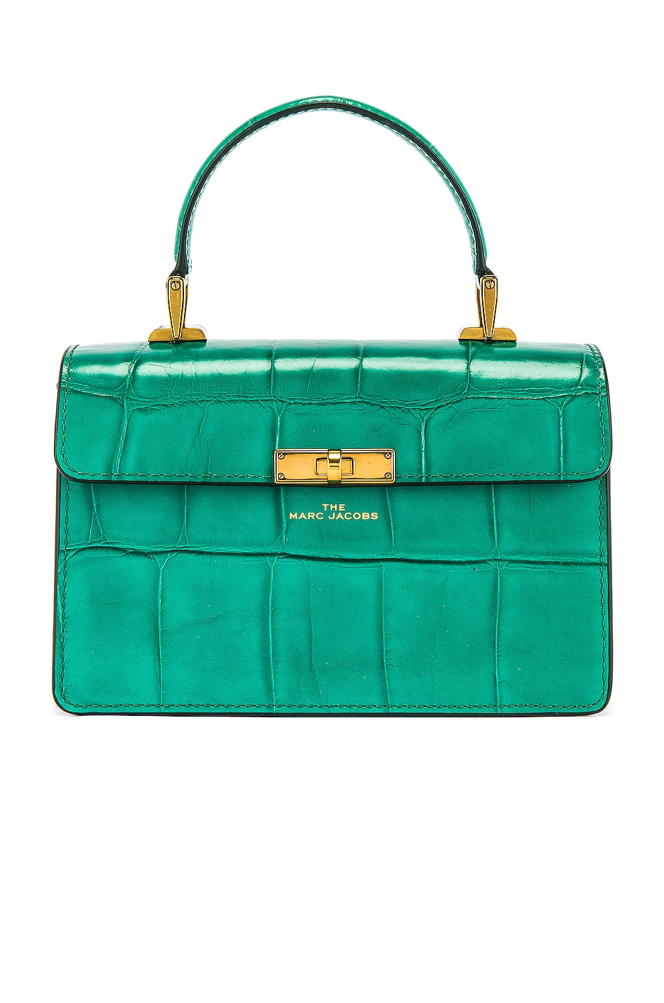 Marc Jacobs The Downtown Croc Embossed Bag in Green