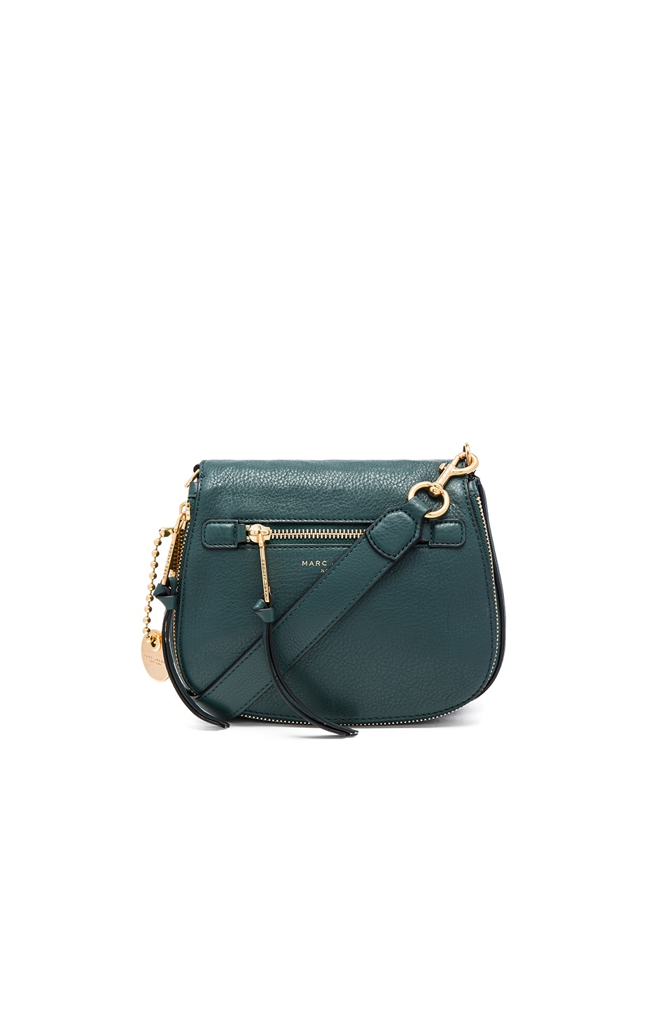Marc Jacobs Recruit Small Saddle Bag in Green Jewel