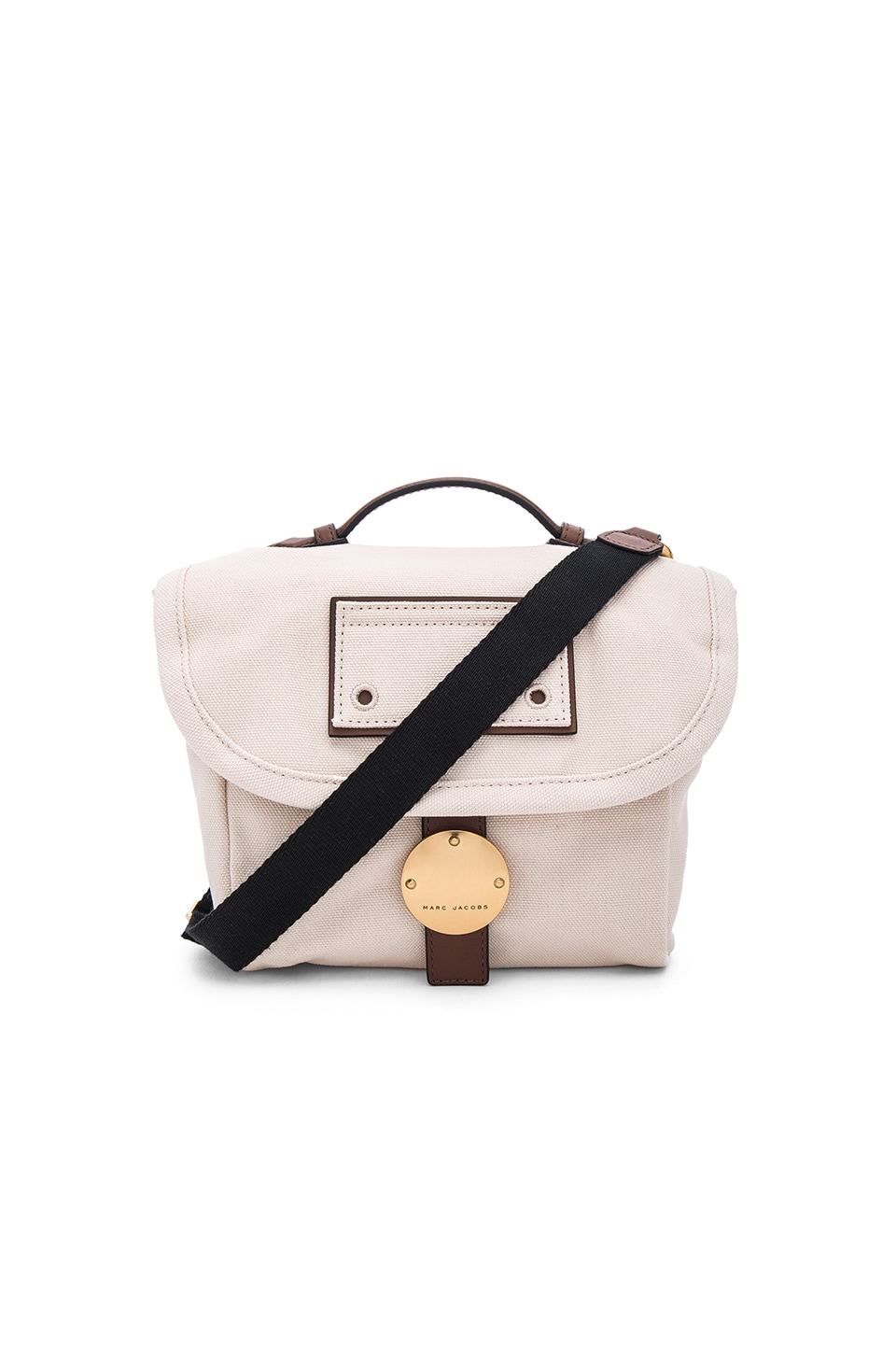 Marc Jacobs Canvas & Leather Camera Bag in Ecru Multi