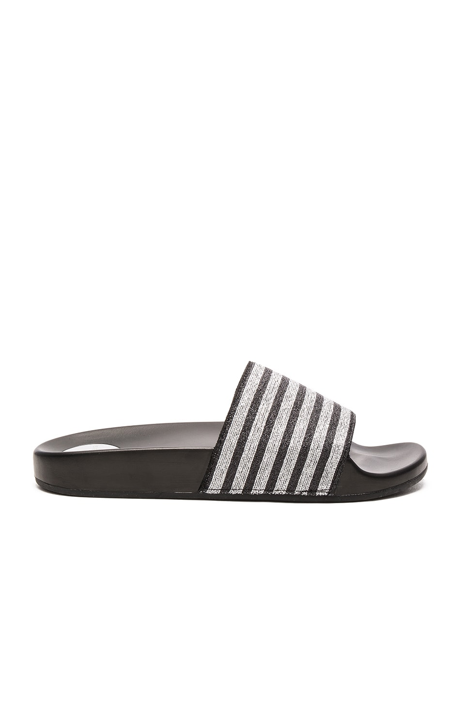 Marc Jacobs Tech Cooper Sport Slide in Black & Silver