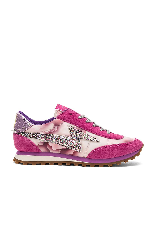 Marc Jacobs Astor Lightning Bolt Sneaker in Pink Multi