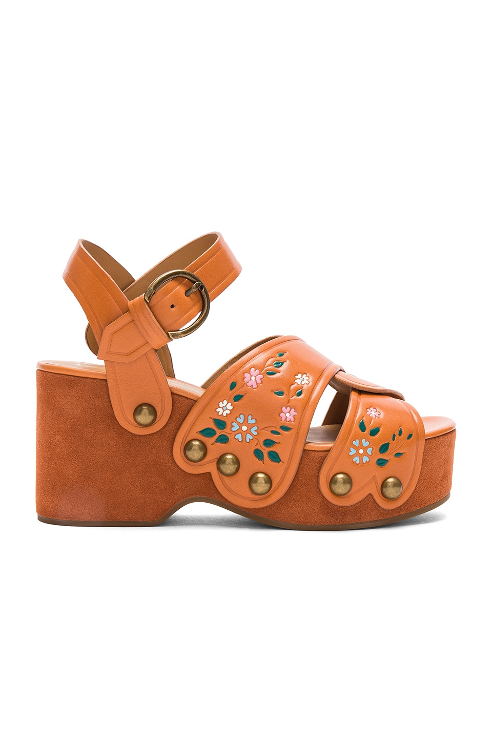 Marc Jacobs Wildflower Wedge in Rust