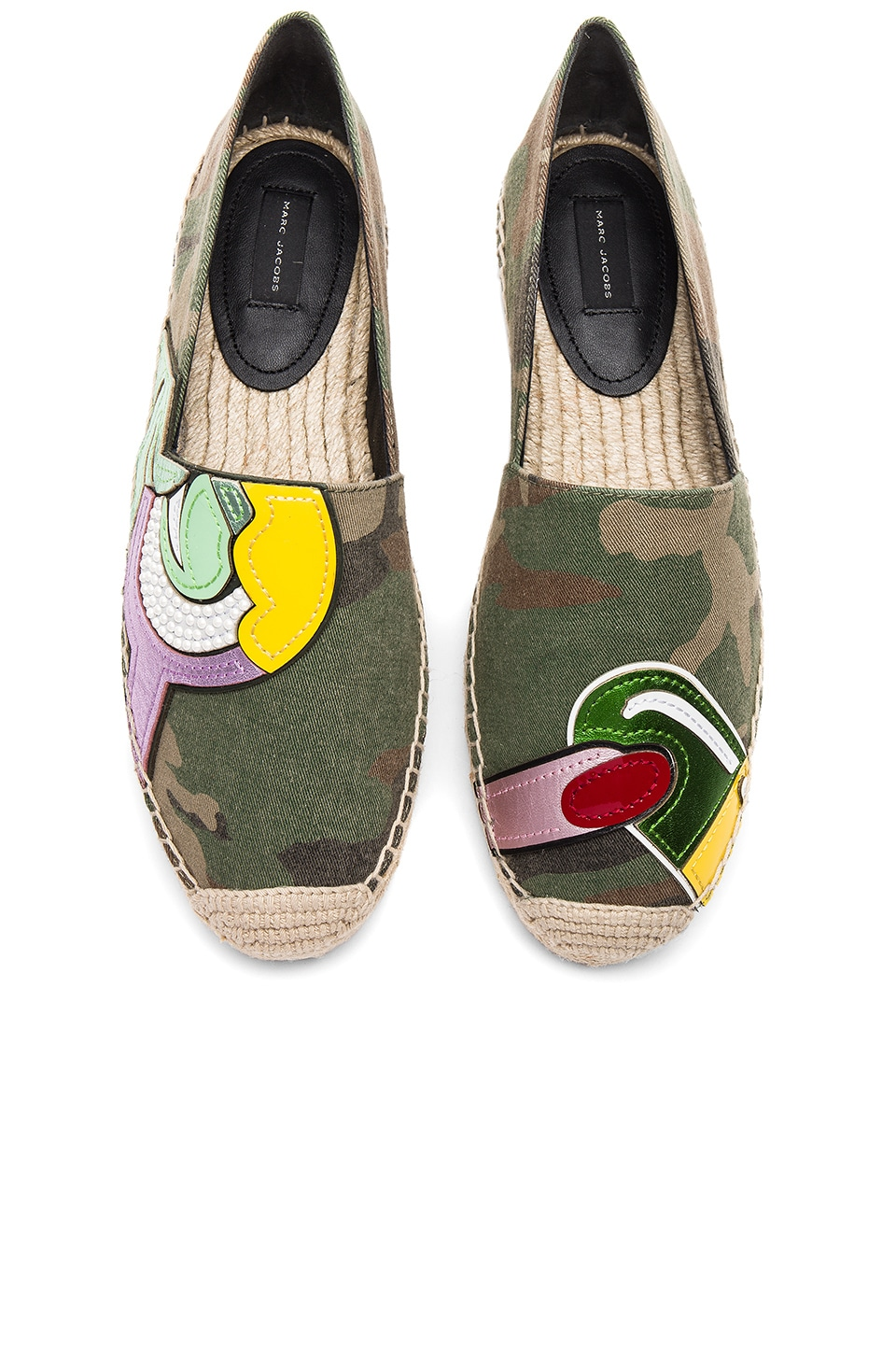 Marc Jacobs Sienna Pill Espadrille in Military Green Multi