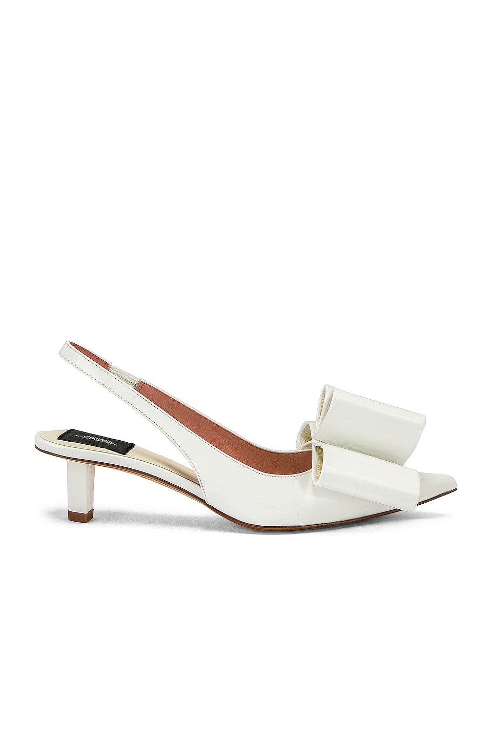 Marc Jacobs Bow Slingback Pump in White