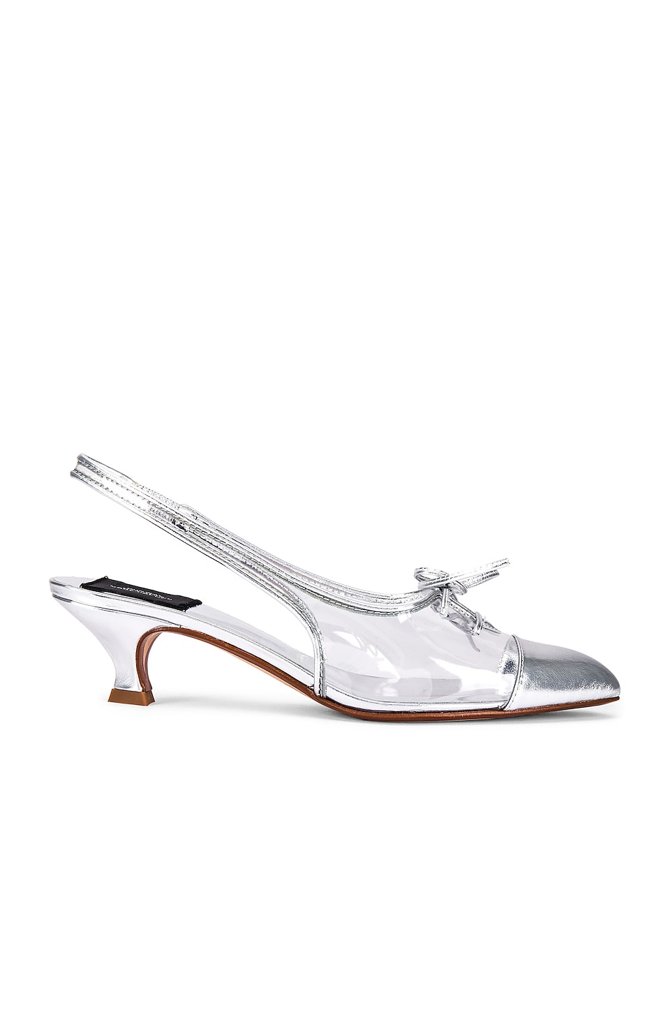 Marc Jacobs Toe Cap Slingback Pump in Clear
