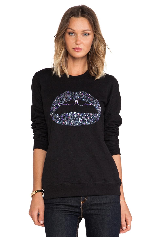 Markus Lupfer Graphic Lip Sweatshirt in Black
