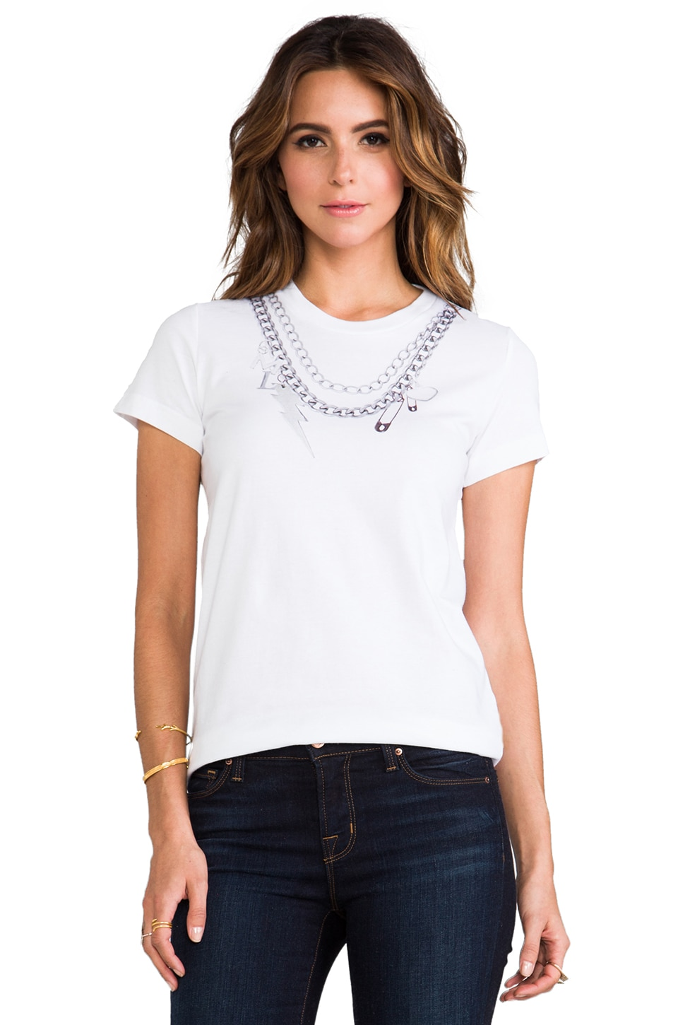 Markus Lupfer Chain Necklace Alex Tee in White