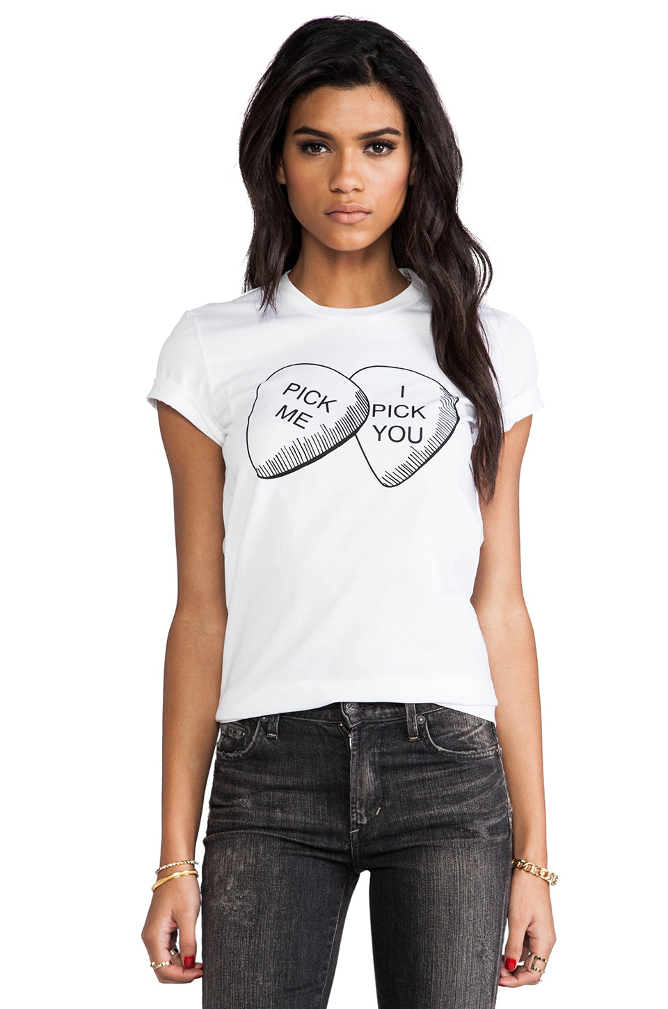Markus Lupfer Pick Me, I Pick You Tee in White