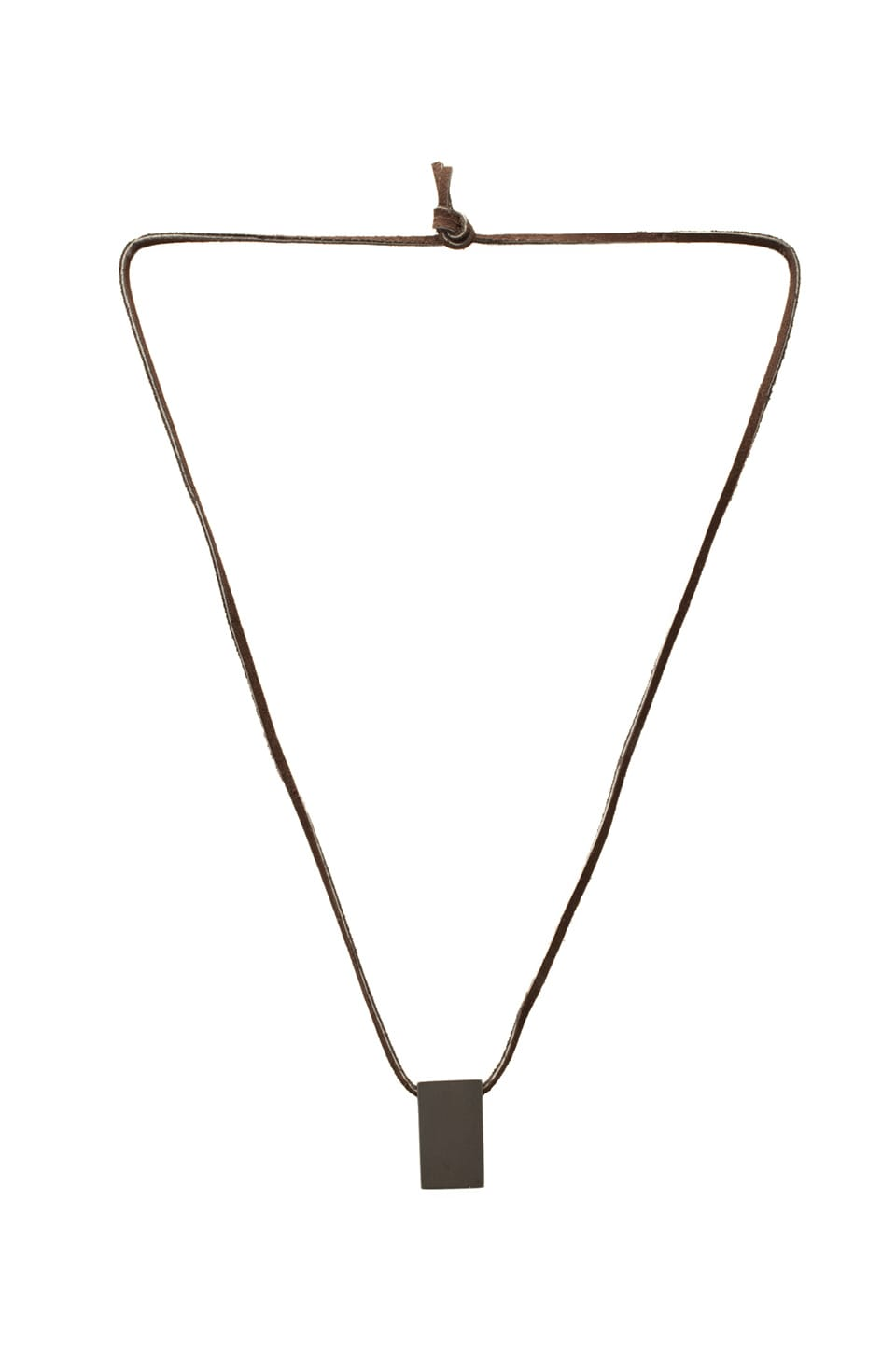 Marmol Radziner Slab Pendant in Dark Bronze