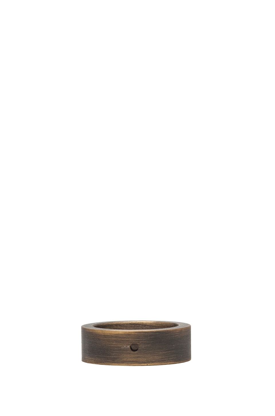 Marmol Radziner Standard Heavyweight Stacking Ring in Distressed Bronze