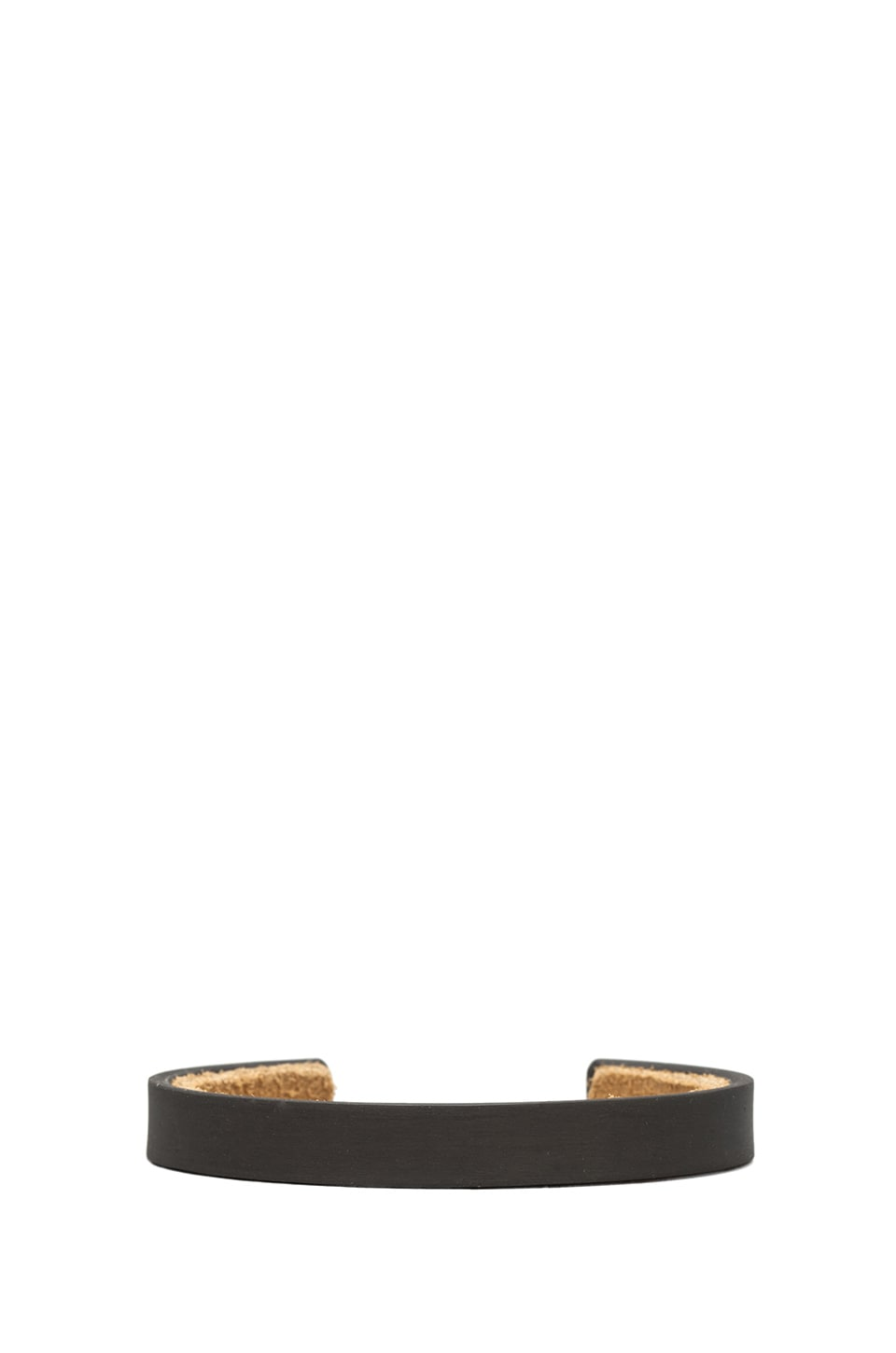 Marmol Radziner Men's Suede Lined Thin Cuff in Dark Bronze