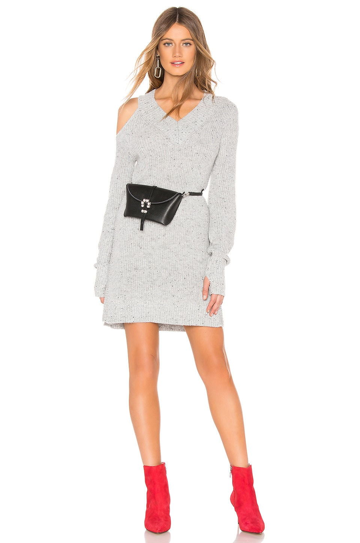 Marled x Olivia Culpo Cut Out Sweater Dress in Grey Fleck