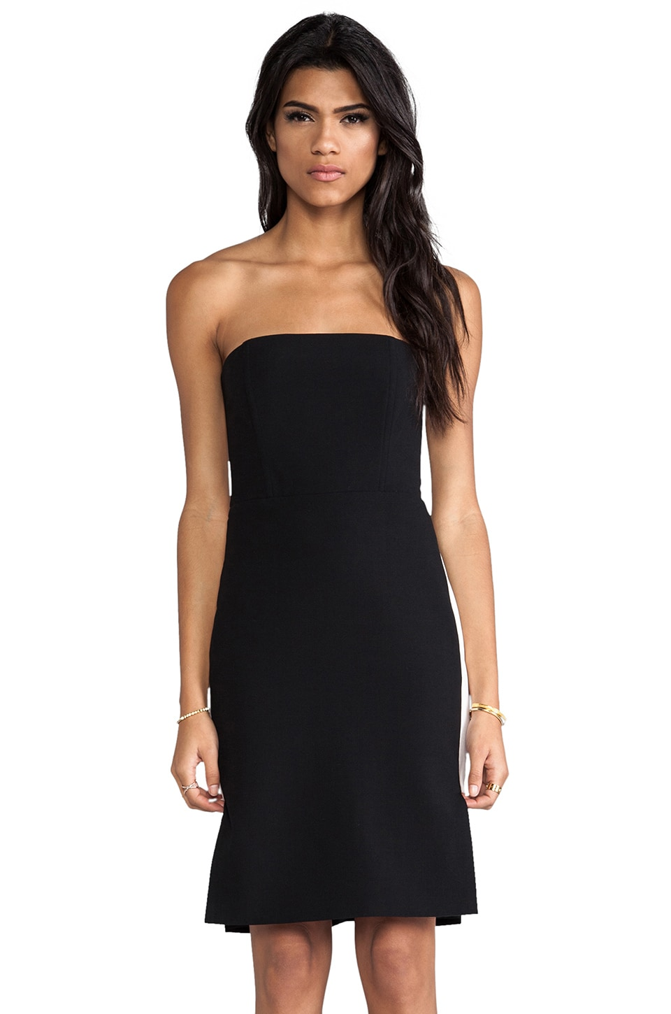Michelle Mason Strapless Dress in Black