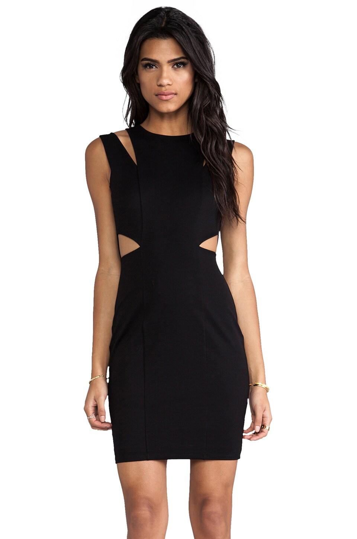 Michelle Mason Cut Out Tank Dress in Black