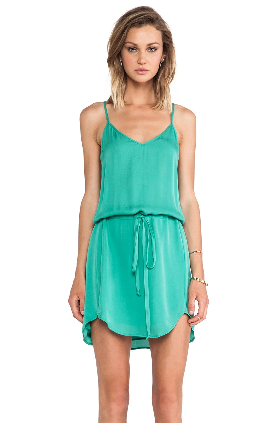 Michelle Mason Cami Dress in Jade