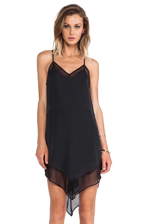 Michelle Mason Chiffon Cami Dress in Black